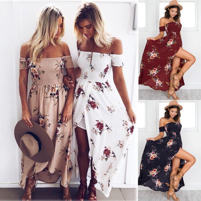 Women Off Shoulder Dress 2019 Summer Causal Dress For ...