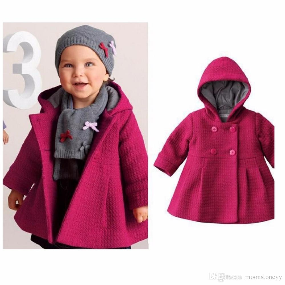 Red Newborn coat Baby Girls Trench Jacket overcoat Hooded Gown Warm Winter  Girl Clothes Poncho Girls Outerwear cloak