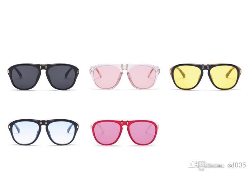 3542dc754a Ladies Multicolor Modern Eyeglasses Men And Women Sunglasses For  Photography Decor Candy Color Can Flip Sun Glasses Fashion Hot Sale 15gf Z Glasses  Frames ...