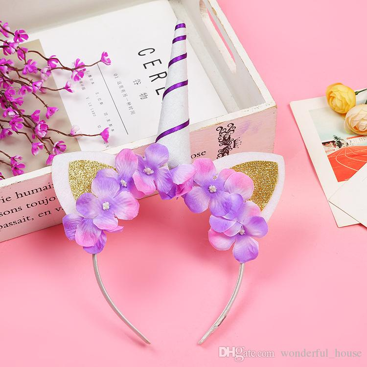 2019 Unicorn Decoration Headband 5 Designs Party Decorations Headbands Kids Birthday Theme Supplies From