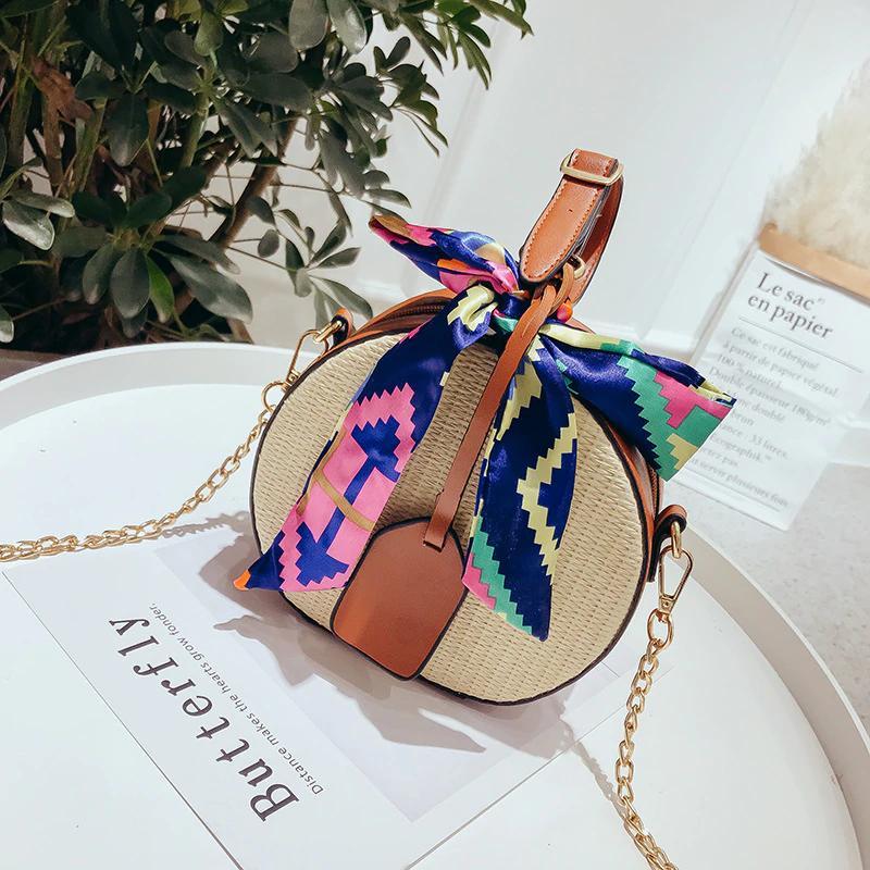 9b3d53631d36 2018 Summer Round Women Straw Bags Rattan Woven Beach Shoulder Bags Ladies  Crossbody Tote Handbag Female Bohemian Handmade Bolsa Hotsale Leather Bags  ...