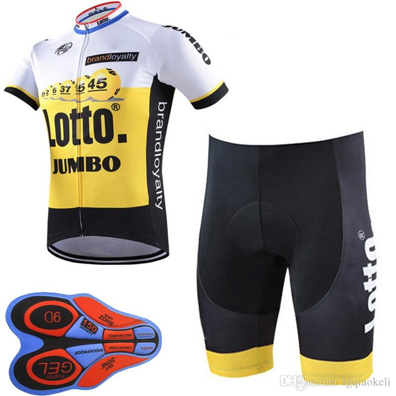 LOTTO Team Cycling Short Sleeves Jersey Shorts Sets 9D Gel Pad Ultra  Comfortable Breathablean Bike Clothing F2519 Lotto Cycling Jersey Ropa  Ciclismo Hombre ... 81d34181a