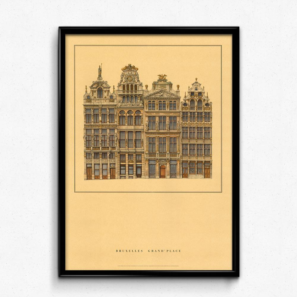 Vintage European Castle Building Kraft Paper Poster Decorative ...