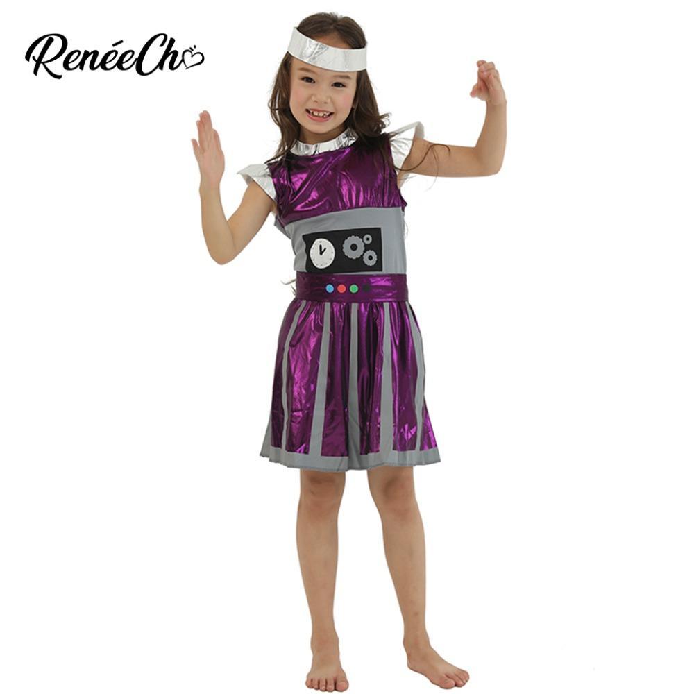 Großhandel 2018 Halloween Kostüme Für Kinder Mädchen Outer Space