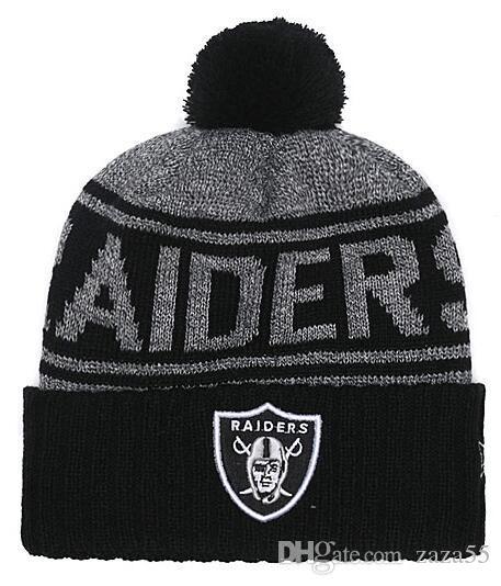2018 Cheap Shipping NEW Basketball Oakland Beanies Cute Winter Hat Gorros  Beanie Knitted Hat Ball Beads Hand Hook Warm Football Skull Caps Beanie  Hats For ... c3d196f6581