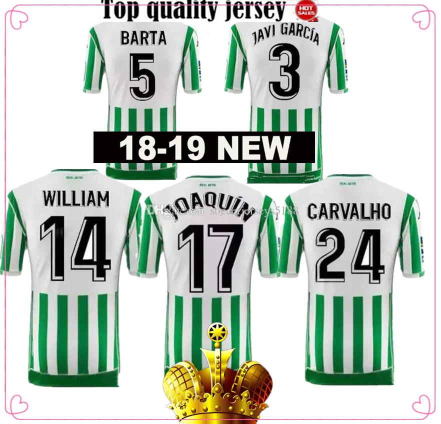 2019 Real Betis Soccer Jersey 18 19 Local JOAQUIN VAN DER VAART BOUDEBOUZ  Camiseta De Fútbol MANDI BARTA TELLO INUI Tercer Uniforme De Fútbol De  Visitante ... 41a4ca00fc6a1