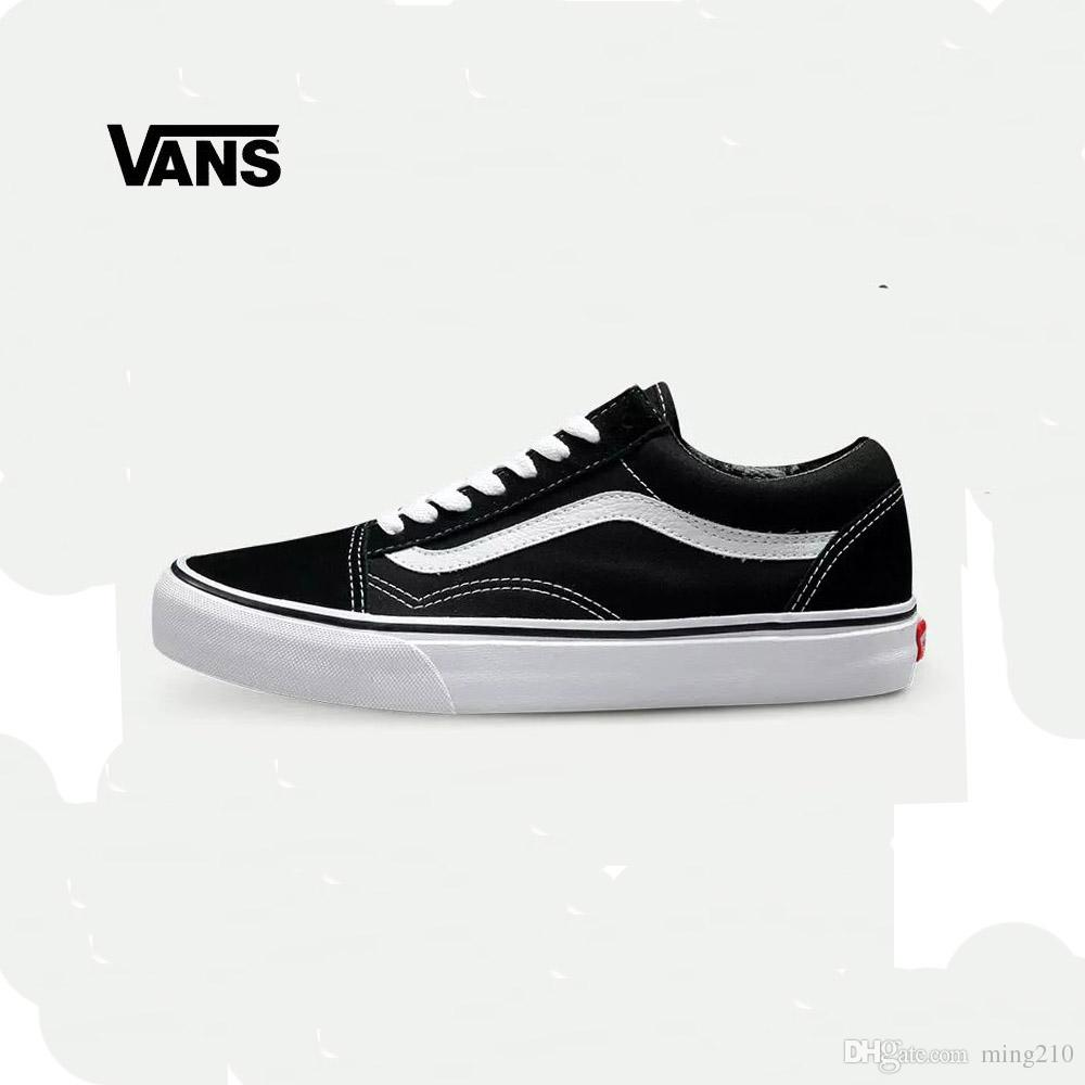 Vans Sneakers Vans Old Skool Low Top Classics Unisex Mens &Women  Skateboarding Shoes Black White Red Sports Canvas Shoes White Shoes Wedges  Shoes From ...