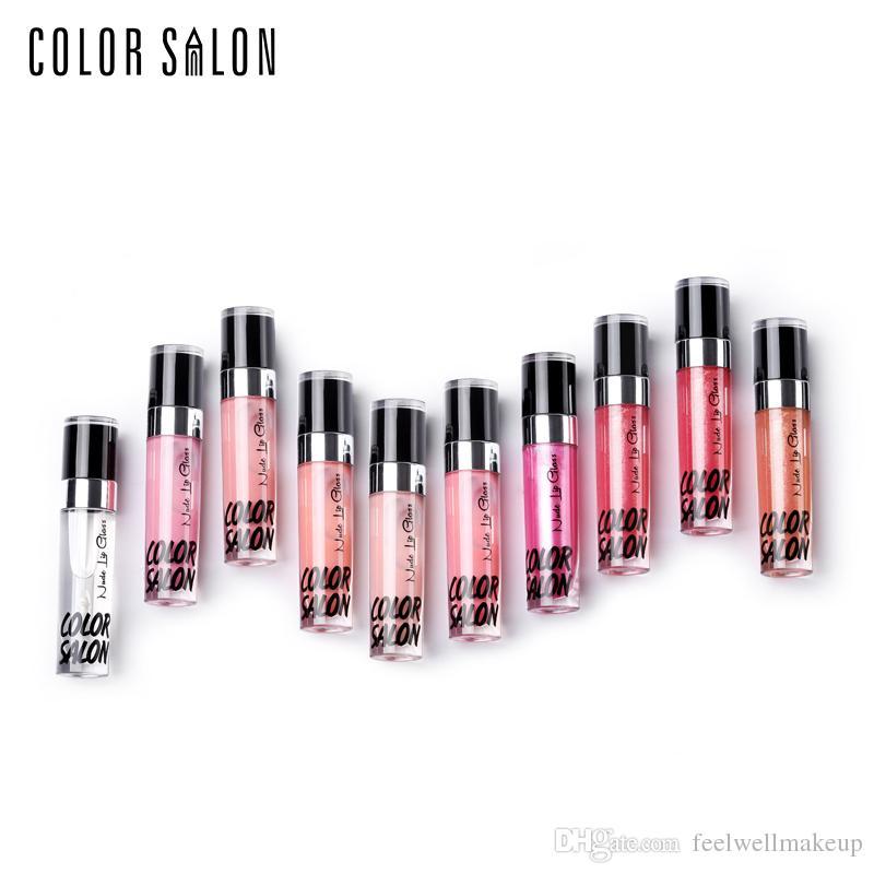 Color Salon Hidratante Brillo labial nutritivo que proporciona un brillo luminoso increíblemente suave textura maquillaje para labios lápiz labial cosmético