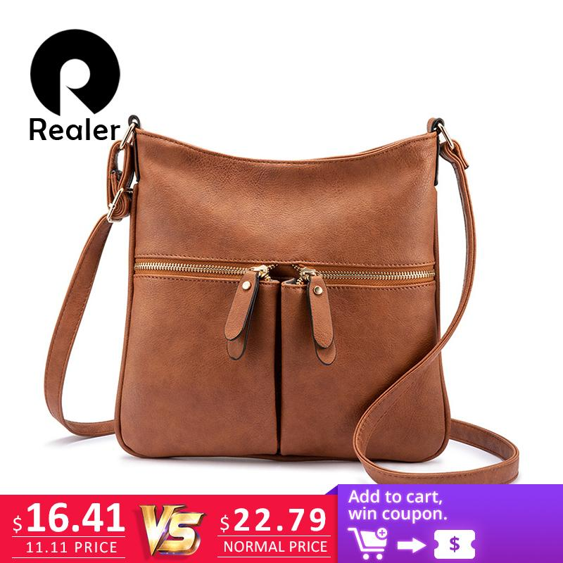 f472c82f37fd 2019 Fashion REALER Women Shoulder Messenger Bags Female Brand ...