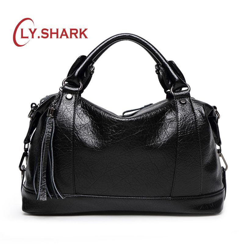 6acda2f317 SHARK Boston Women Bag Tassel Ladies Leather Bag Women Messenger Bags  Handbags Famous Brand Designer Totes Female Handbag Hobo Bags Ladies  Handbags From ...