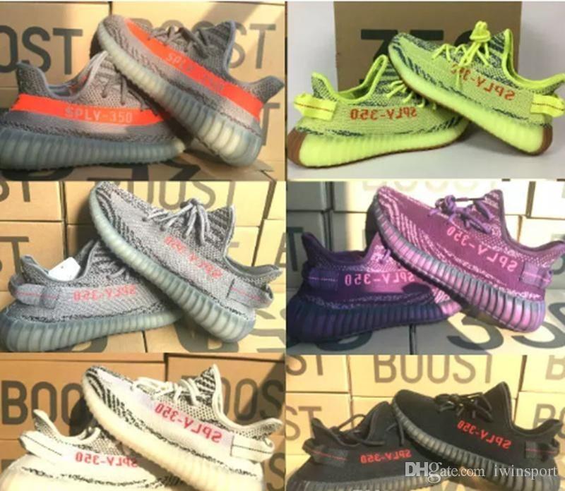 sale retailer 03195 d4784 Compre Adidas Yeezy Off White Zapatos De Cuadro A Juego Mantequilla De  Sésamo 350 V2 V1 Zapatillas Azul Claro Blanco No. El Diseñador De 13 Zapatos  De Mujer ...