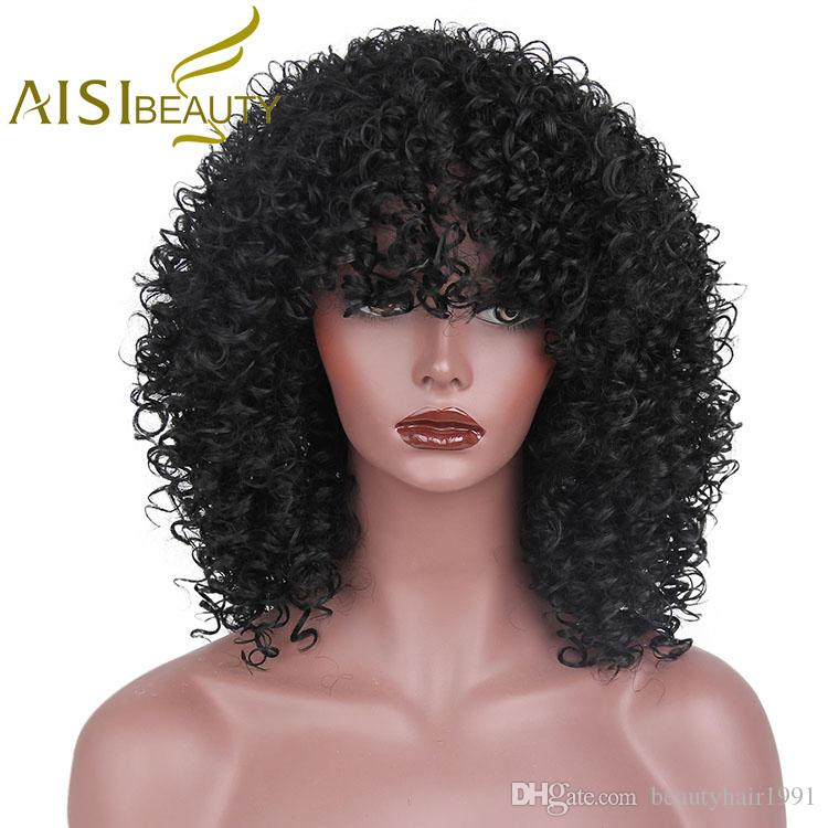 Aisi Beauty 2018 New Style Afro Kinky Curly Wigs For Black Women Short  Curly Black Wig Lace Front Wigs Black Women Wigs Black Hair From  Beautyhair1991 9b1a71343d