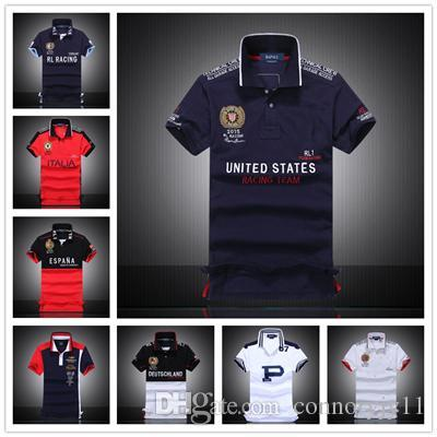 2f37665c4d 2019 2018 Luxury Brand Air Force One Top Quality Embroidery Men'S  Asstseries Militare Men Shirts Brand POLO Diamond Fashion Shark Clothing M  From ...