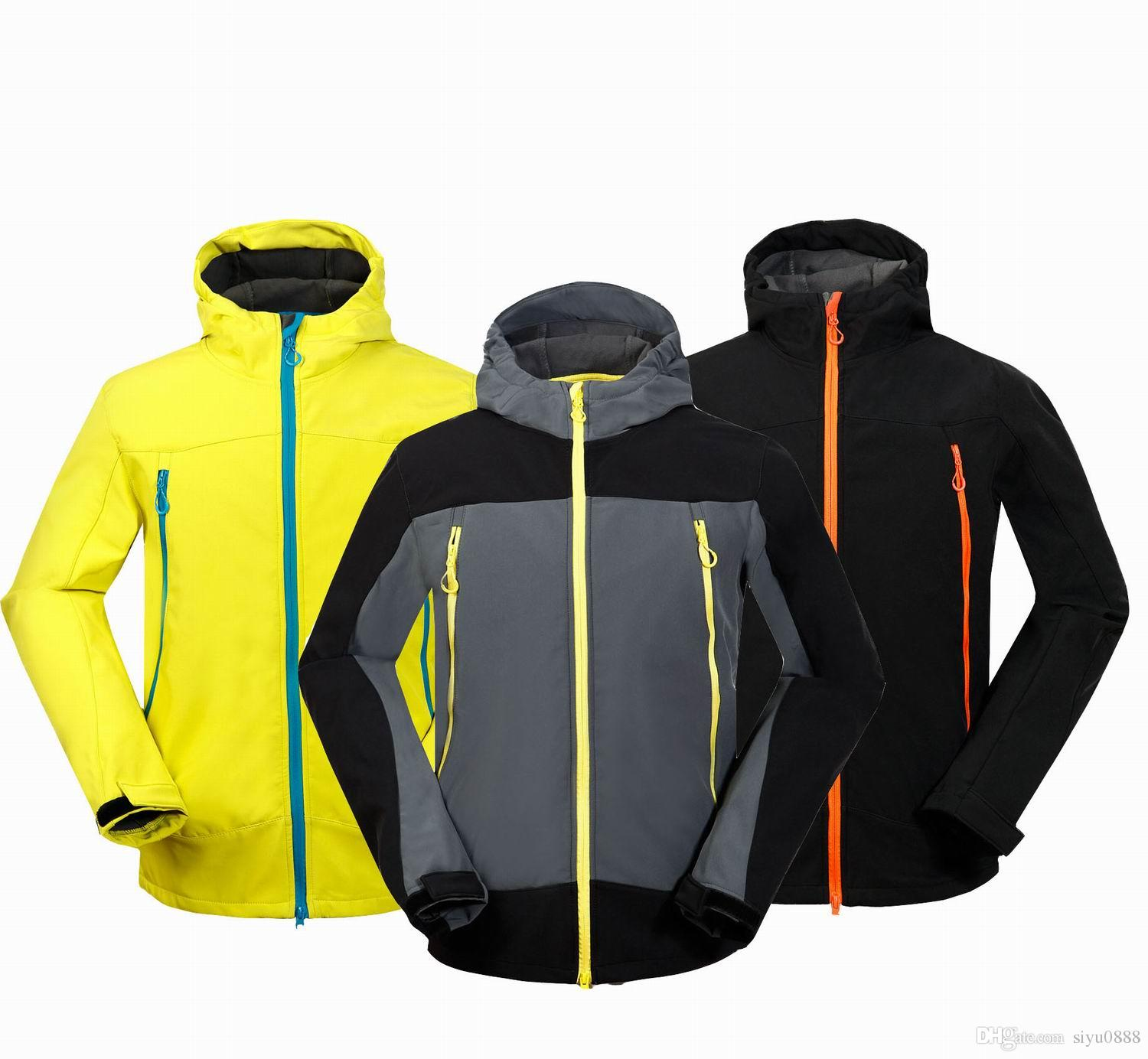 95177c90a635d Wholesale-Men Waterproof Breathable Softshell Jacket Men Outdoors Sports  Coats Ski Hiking Windproof Spring Outwear S 2XL FREE SHIP  1651 Breathable  ...