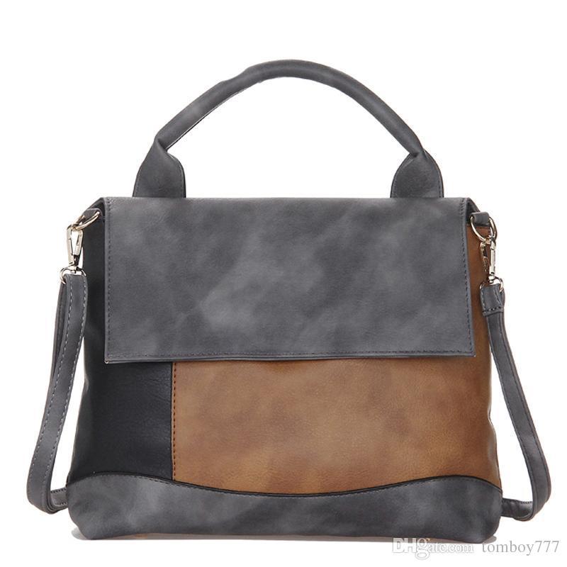 d592feb63cef Fashion Patchwork Pu Leather Handbags Casual Women Luxury Fashion Shoulder  Bag Designers For Women 2018 Ladies Hand Bags Crossbody Purses Ladies Purse  From ...