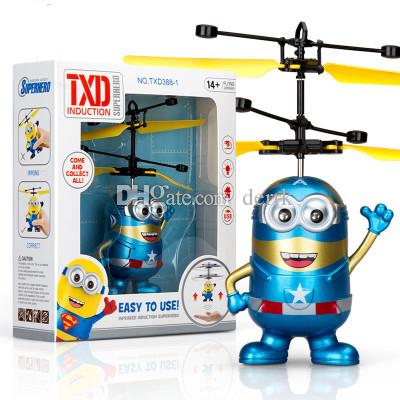9 tipi RC Drone elicottero volante Ball Aircraft Elicottero Led Lampeggiante Up Giocattoli induzione Sensore giocattolo elettrico Bambini Bambini Natale