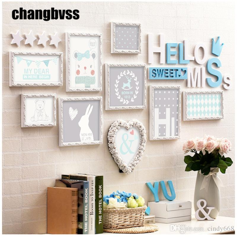 2018 Sweet Theme Wooden Wall Hanging Photo Frames Picture Frames For ...