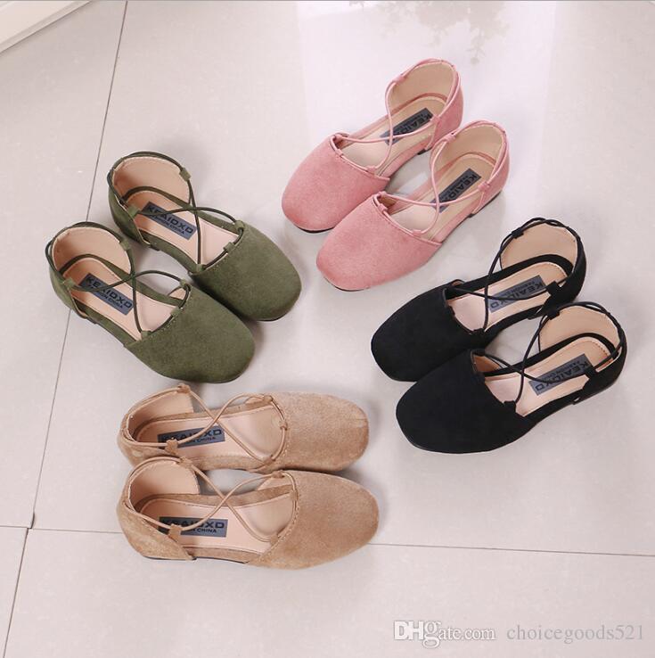 Girls Shoes Children Fashion Princess Shoes Kids Cross Band Sandals ... 9097efc3d0d2