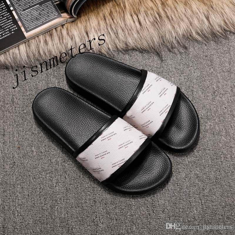 NUOVA STAGIONE SS18 delle donne degli uomini di moda Logo e stella-stampa scivolo di gomma sandali delle ragazze dei ragazzi unisex spiaggia infradito causale