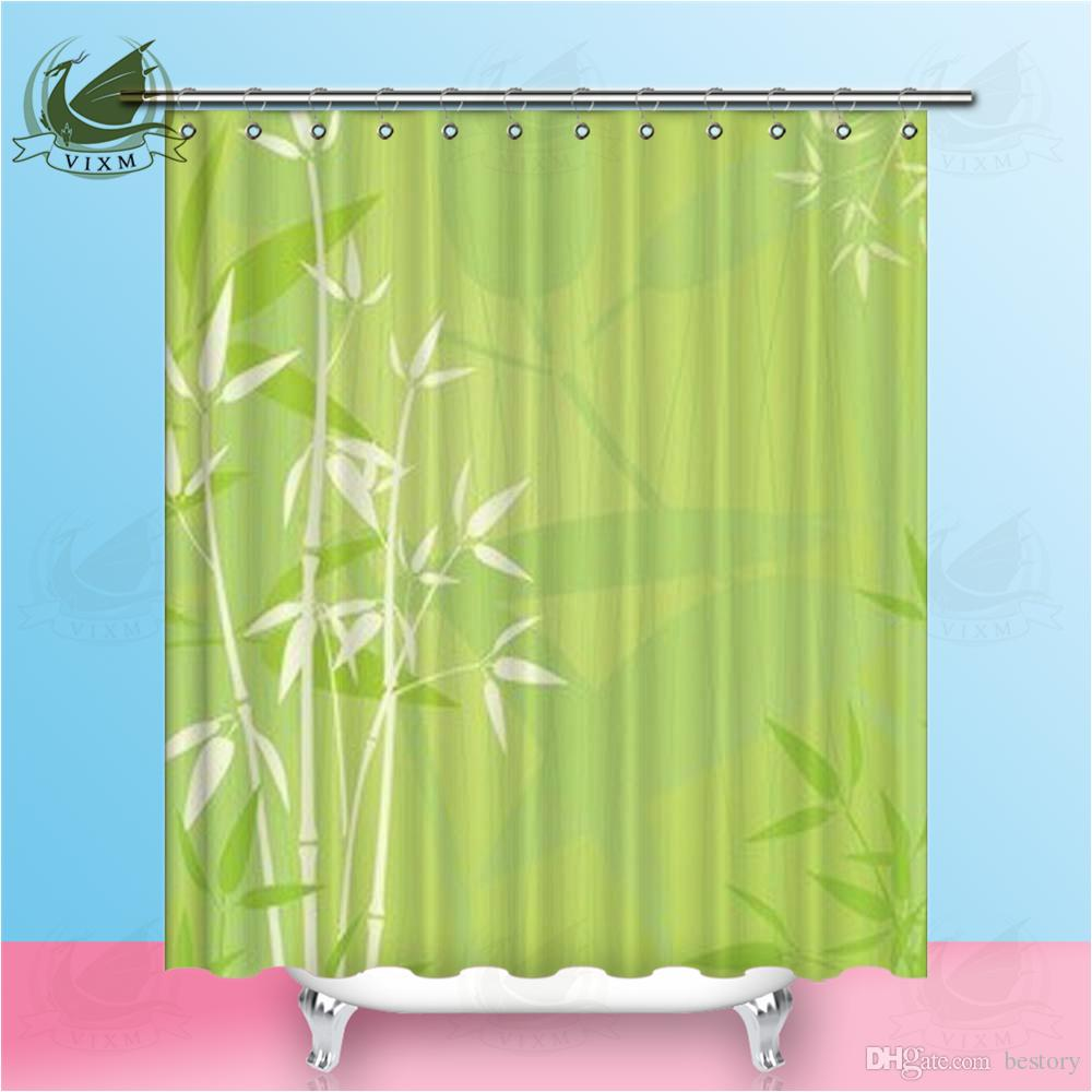 2019 Vixm Home Elegant Zen Bamboo Fabric Shower Curtain Bubble Of Natural Flowers Bath For Bathroom With Hook Rings 72 X From Bestory