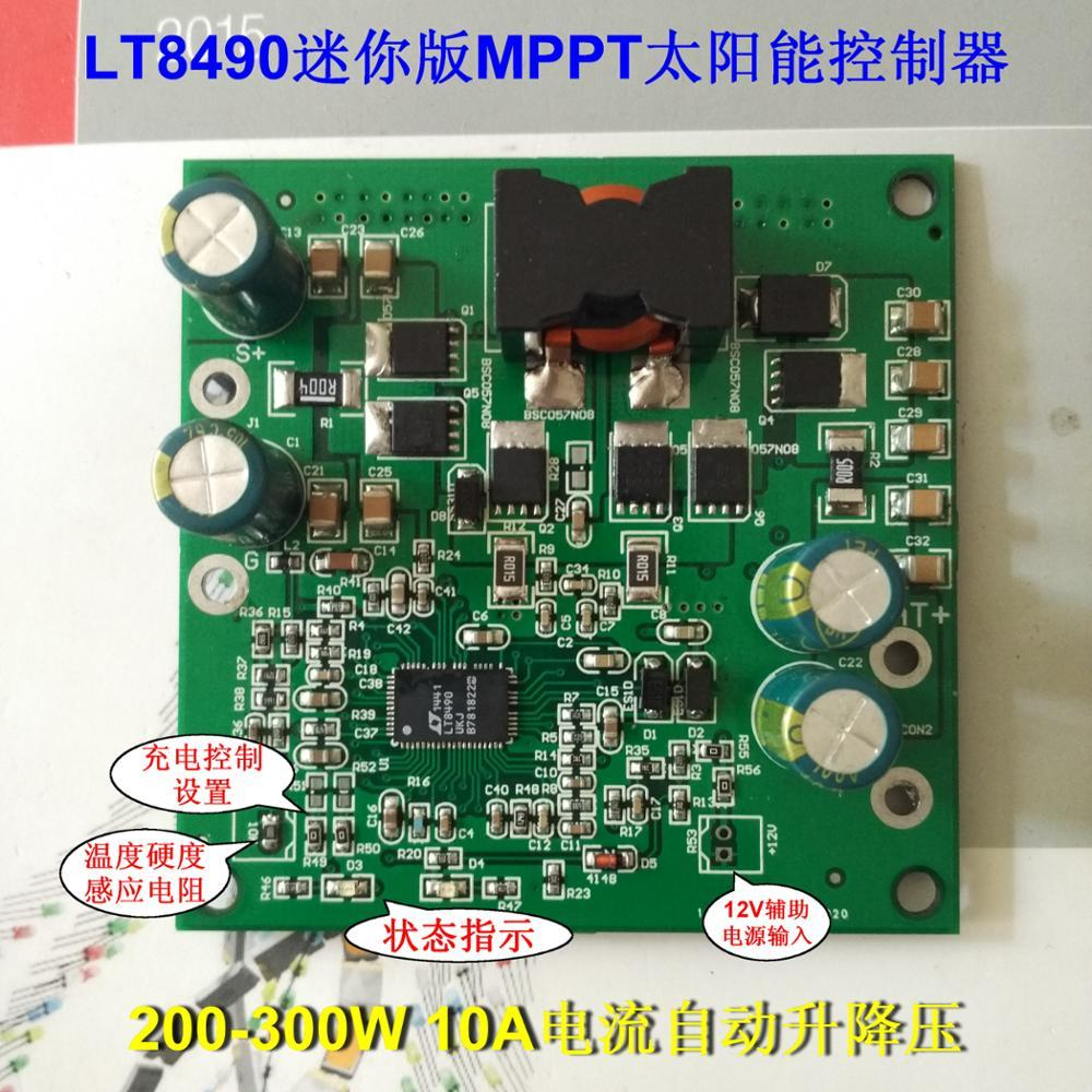 300W MPPT solar controller mini version LT8490 single chip intelligent  control battery pack charging GPS