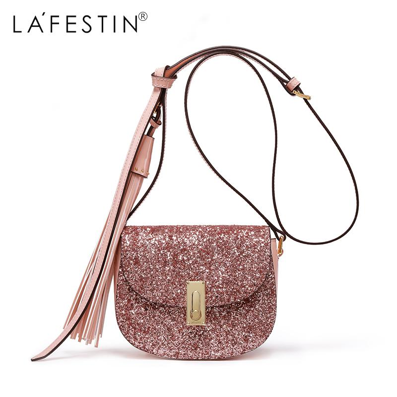 c174faa40e LAFESTIN Brand Women Shoulder Bag Fringe Bling Bling Sequin Crossbody Bag  2018 Luxury New Bolsa Feminina Purses Designer Handbags From Redline
