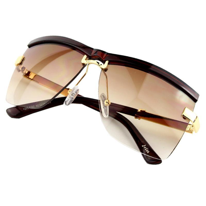 171a2600ca383 Sunglasses Women Brand Designer 2017 New Fashion Unisex Semi Rimless Frame  Business Sunglasses Women Men UV400 Hot Sale Discount Sunglasses Sports ...