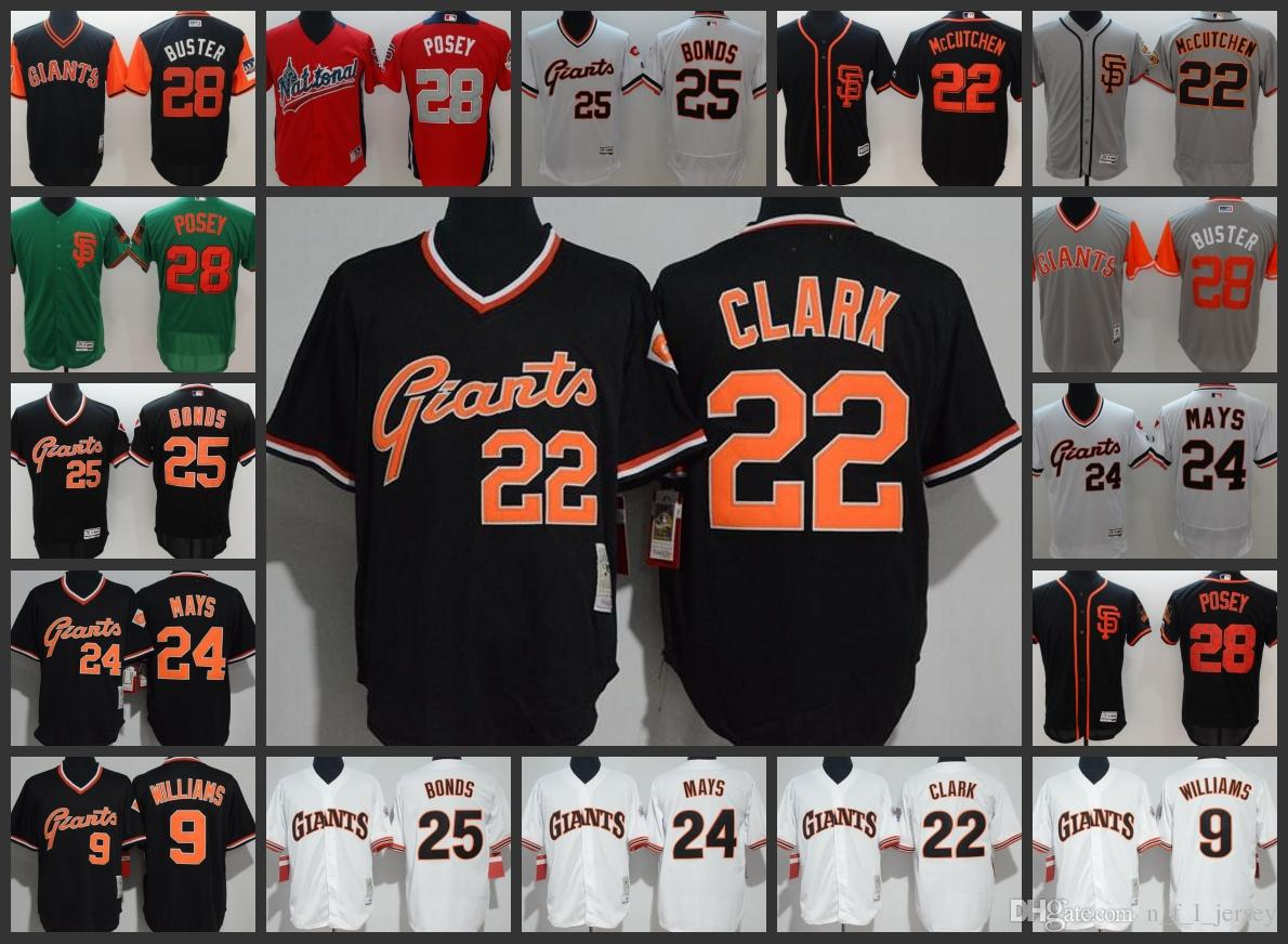 0d0082f3 San Francisco Giants Men Jersey #24 Willie Mays 25 Barry Bonds 22 Will Clark  Black Woman Youth Baseball Jerseys Online with $26.04/Piece on  Top_nfl_jersey's ...