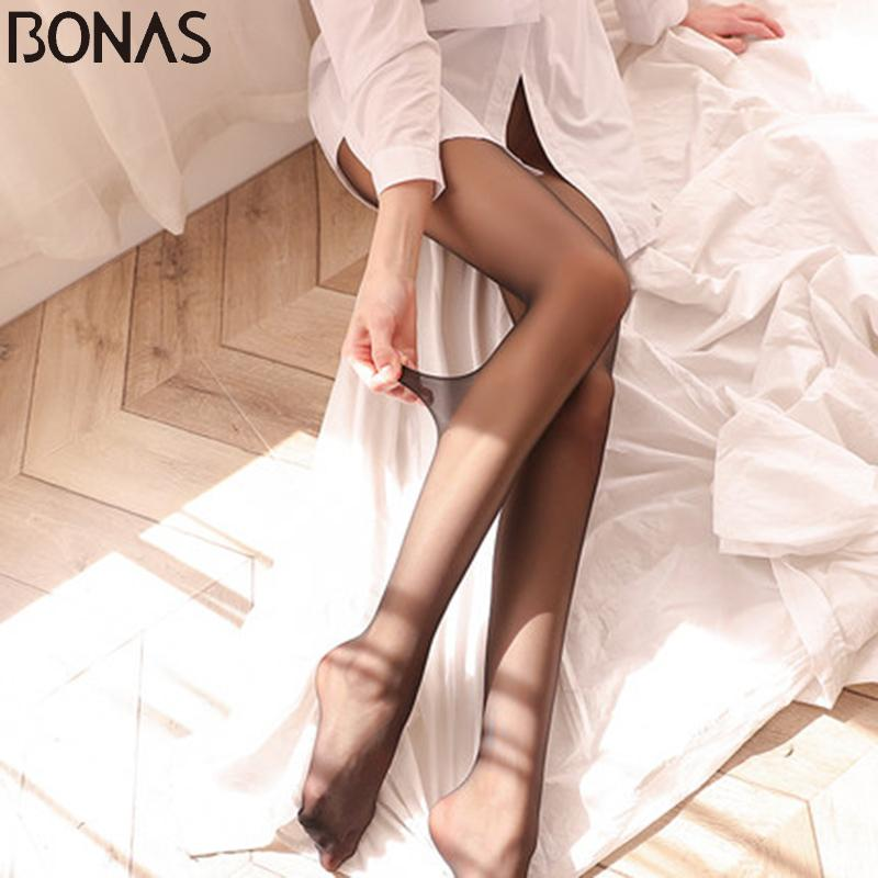 ed1b536f5ec 2019 BONAS 2018 New 15D Sexy Breathable Tights Tear Resistant Women  Pantyhose Ultra Thin Nylon Tights Stretchy Stockings Female From Marryone