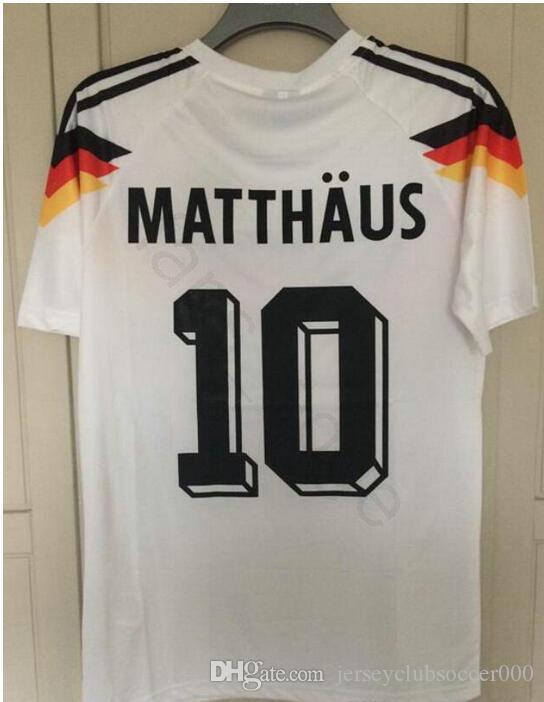 1990 World Cup Germany Retro Soccer Jersey 18 KLINSMANN 10 Matthaus ... 123bdf571