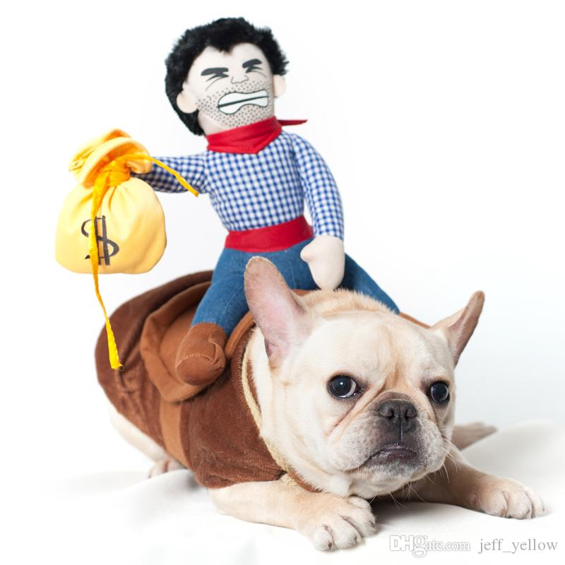 toy Creative dog Clothes toys personality Funny Transform Cowboy knight Pet winter clothes
