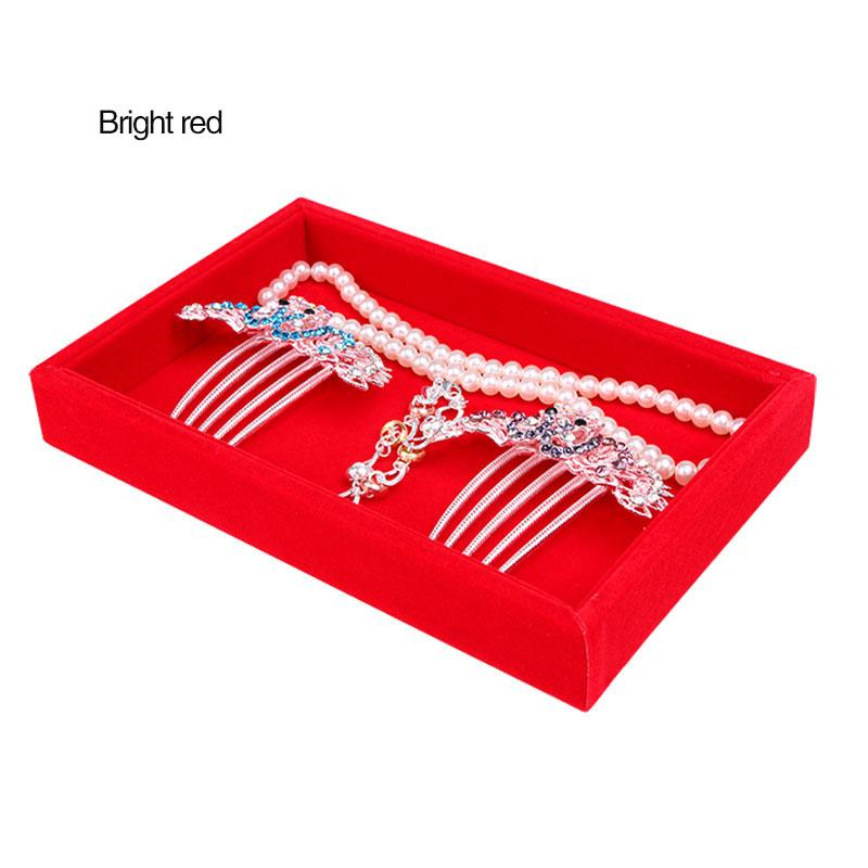 Velvet/Wooden Superior Jewelry Display Trays Necklace Ring Bracelet Earrings Bead Box Jewellery Diy Finding Organizer