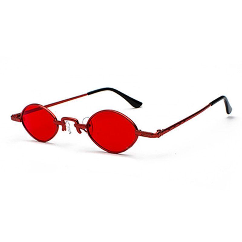 46155064a5 Phoemix 2018 New Fashion Retro Small Oval Metal Sunglasses Women ...