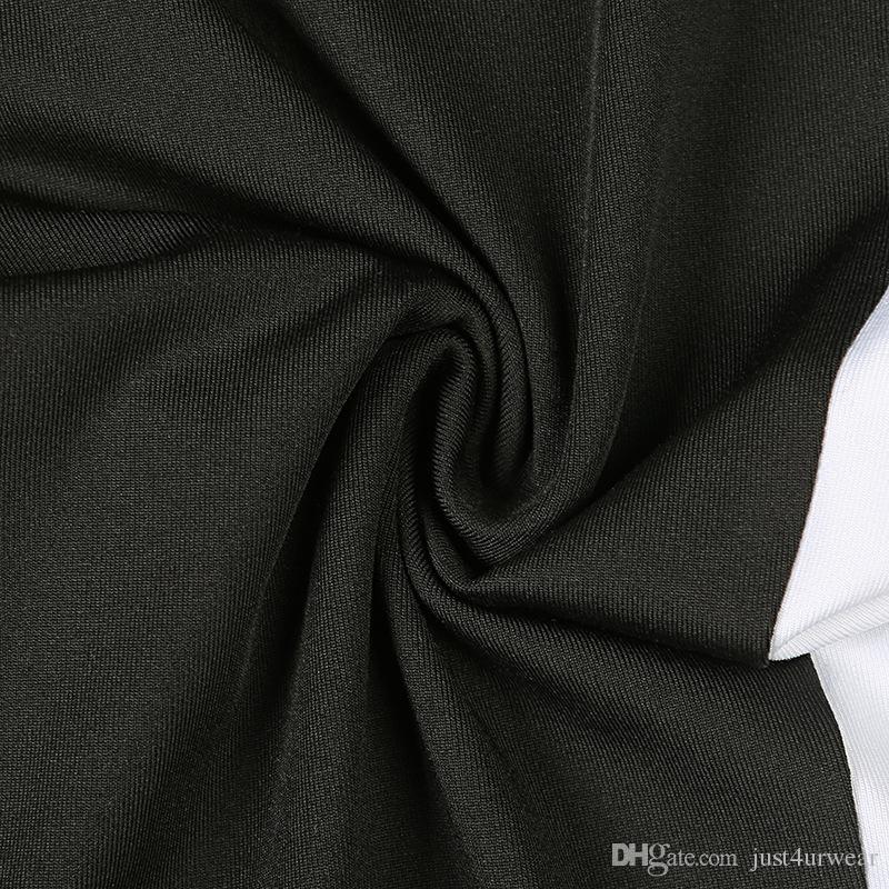 Moda Preto Fatos de Treino para Mulheres Roupas de Verão Colheita Tops Curto Tees Leggings Conjuntos de Esportes Atléticos Ternos Casuais