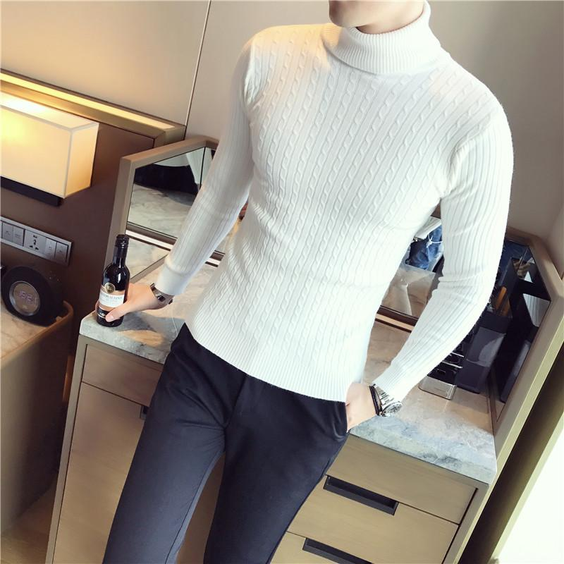 2019 Men Turtleneck Sweater Black White Grey Red Stripe Slim Fit Mens  Pullover Sweaters Male Sweater Men Turtleneck From Pingpo, $38.08 |  DHgate.Com