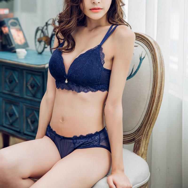 d8a56edb2cb Women Lace Bra + Panty Underwear Suit Sexy Push up Bras Set Transparent Underwear  Lingerie