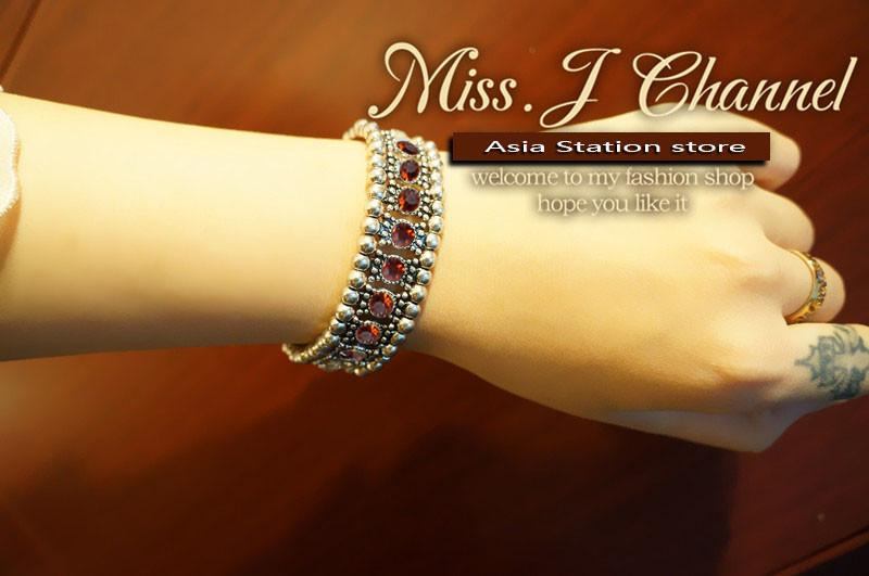 Braccialetto di cristallo di cerimonia nuziale dei monili di modo di marca di disegno Braccialetti fatti a mano dei braccialetti dei branelli del rhinestone delle donne Accessori all'ingrosso 2016