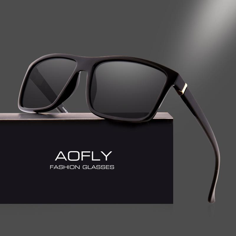 8c7983a05 Compre Aofly Marca Design Polarizada Óculos De Sol Dos Homens Quadrados De  Armação Óculos De Sol Para As Mulheres Do Vintage Óculos Retro Óculos Gafas  Uv400 ...