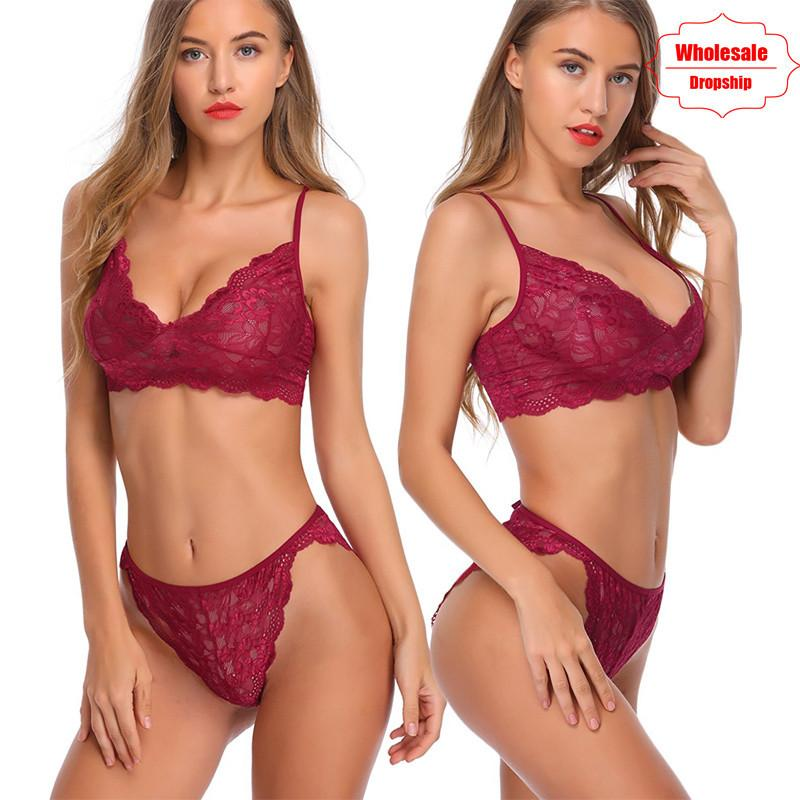 NINGMI Sexy Lingerie For Women Bra Panty Nightwear Set Lace Babydoll Erotic  Underwear Suit Porn Maid Sex Costume Chemise Pajamas Y1892810 Mens Flannel  ... ef6141635