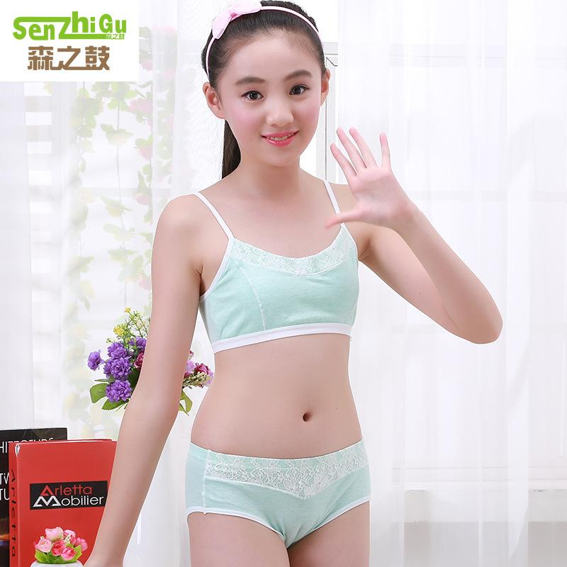 637a1ff373e538 2019 Teenage Girls Clothing Underwear Bra   Brief Sets Young Girls Lingerie    Panties Undies Suit Puberty Student Bras Clothes From Humom