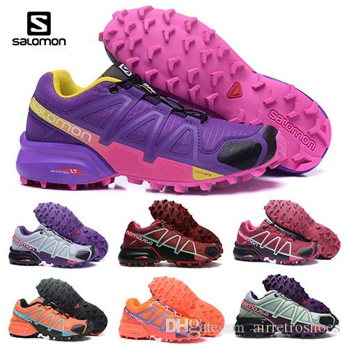 64d5a9ef6e2a Salomon Speedcross 4 Red Trail Runner Women Running Shoes Sports Fashion  Womens Speed Cross 4s IV Hiking Sneaker Outdoor Shoes Eur 36 42 Shoes  Sports Spikes ...