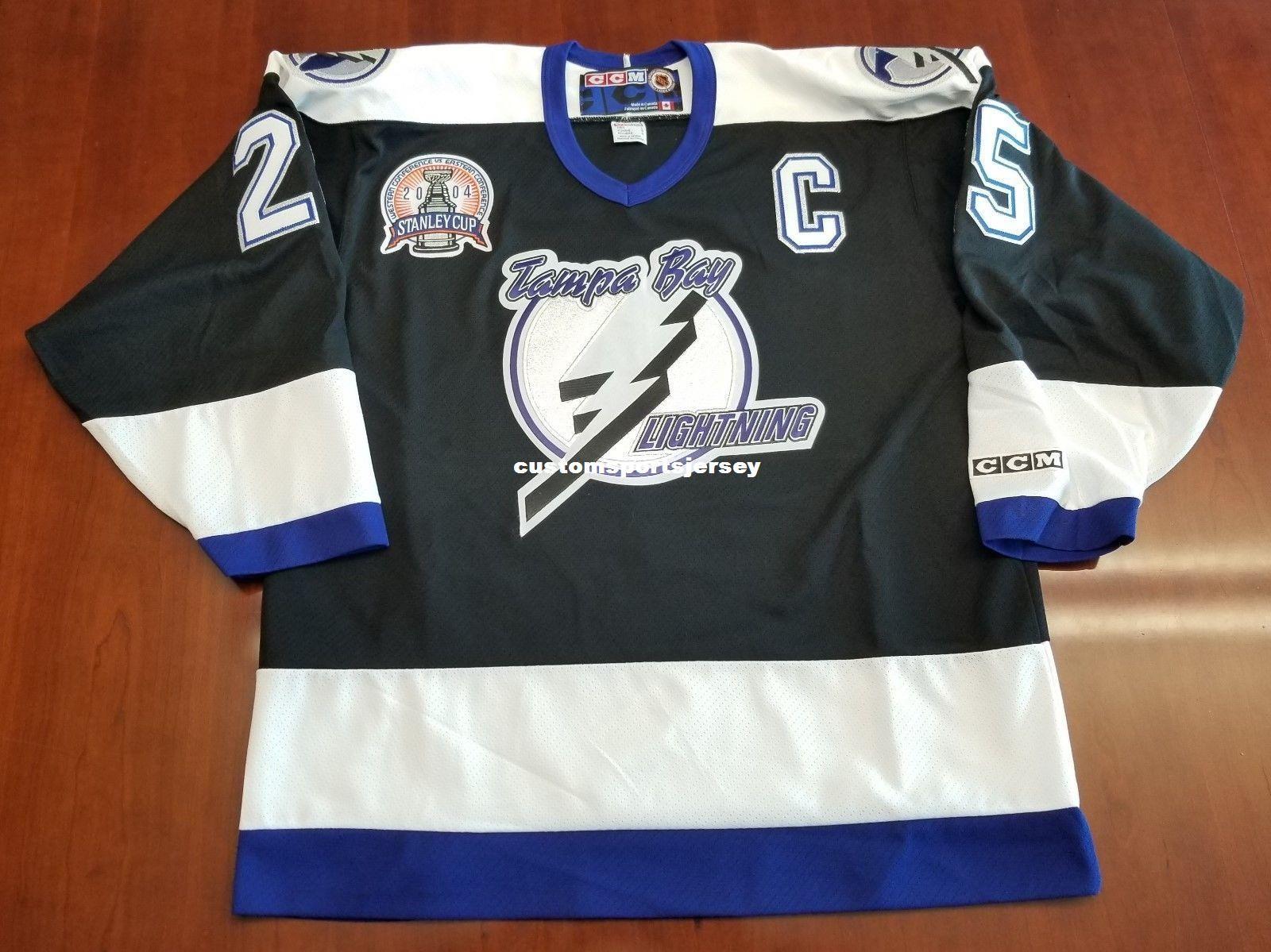 2019 Cheap Custom Dave Andreychuk Vintage Tampa Bay Lightning CCM Jersey  2004 Cup Patch Stitched Retro Hockey Jersey XS 5XL From Customsportsjersey f2e55551a