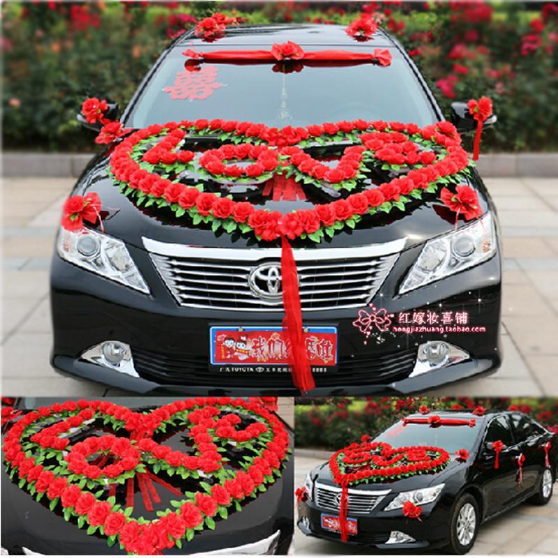 Grosshandel Kunstliche Blumen Neue Art Hochzeit Auto Dekoration Set