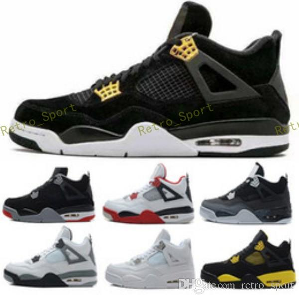 e4554e65ffd16a Cheap 4 4s Men Basketball Shoes Royalty Pure Money White Cement Bred ...