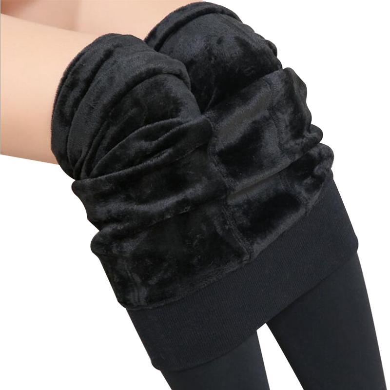 0a8b8868d2f807 2019 2018 Winter Warm Pants Women Plus Size High Waist Leggings Trousers Velvet  Thick Solid Sexy Warm Super Elastic Leggings From Zanzibar, $44.12   DHgate.