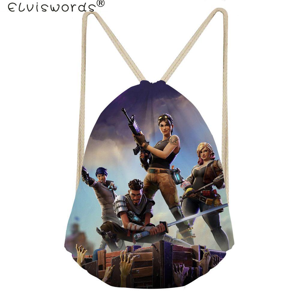 768cc2f5fab1 2019 EISWORDS Fortnite Battle Royale Printed Men Drawstring Bags Casual  Women Travel Daily Bags Kid Boy School Bag Daypack S From Arrownet
