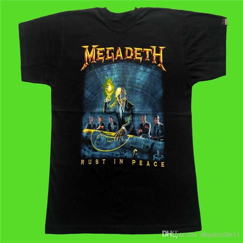 Design Your Own Shirts Online: Design Your Own Tee Shirt O Neck Men Megadeth Rust In