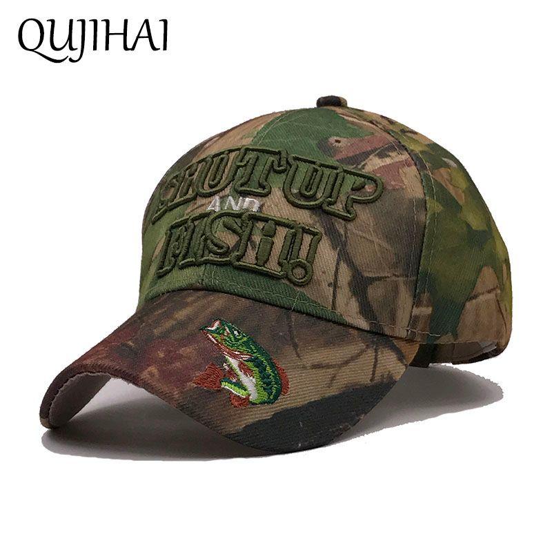 526537c9b1158 uk qujihai 2018 spring cabaseball cap men army camouflage hat mens hunting  fishing snapback desert hat