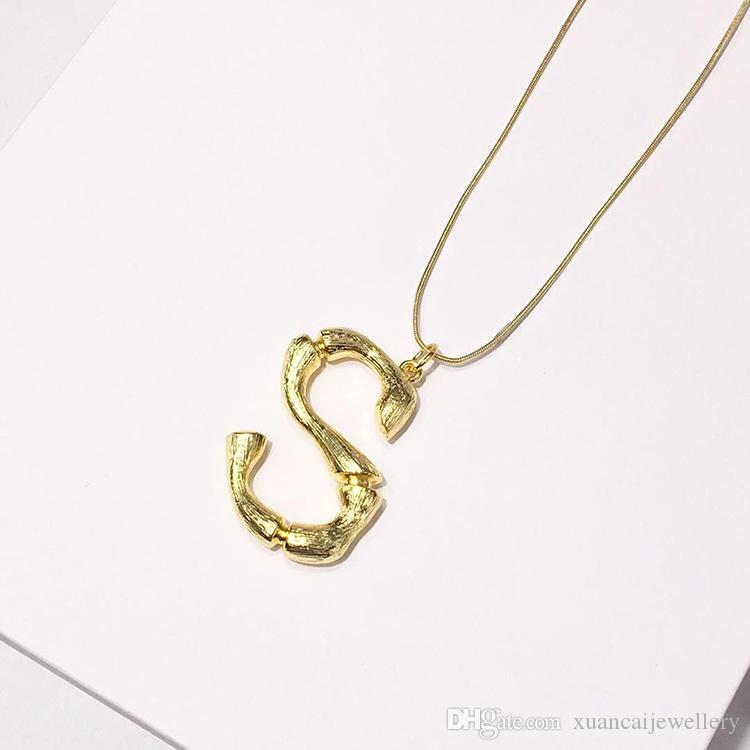 baf20230100e2 Wholesale Tiny Gold Initial Necklace Gold Letter Necklace Initials Name  Necklaces Personalized Pendant For Women Girls.Best Birthday Gift Name  Pendant ...