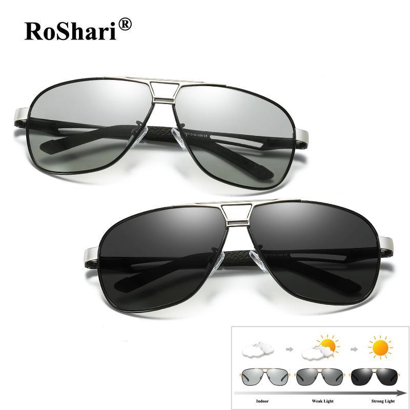Compre Gafas De Sol De Conducción Fotocromáticas Roshari Hombres Polarizado  Decoloración De Magnesio Y Aluminio Gafas De Sol Hombres Lentes De Sol  Hombre A ... 066fac15633f